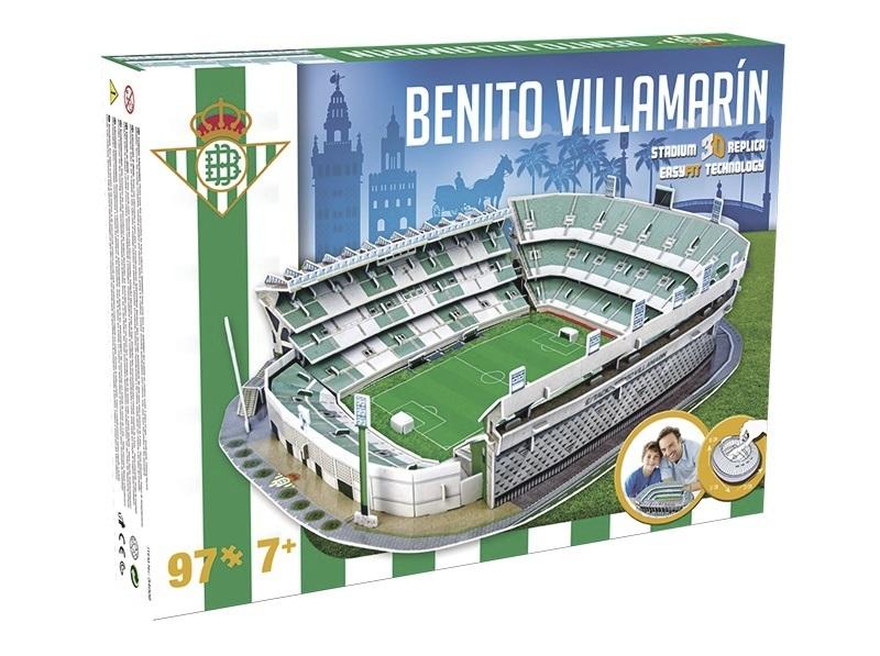 nanostad 3d puzzle fotbalov stadion spain benito villamar n betis ostrov her. Black Bedroom Furniture Sets. Home Design Ideas