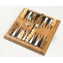 Mini Backgammon - bambus