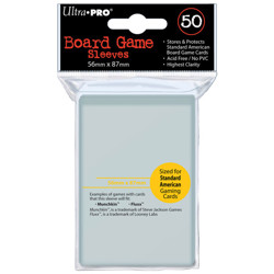UltraPRO: 50 Board Game Sleeves - Standard American - 56mm x 87mm