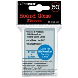 UltraPRO: 50 Board Game Sleeves - Mini American - 41mm x 63mm