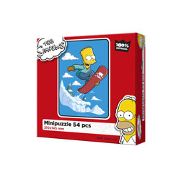 Puzzle The Simpsons - Bart na snowboardu