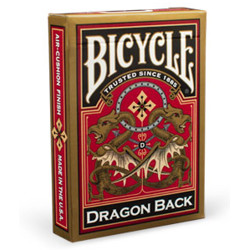 Bicycle - Gold Dragon Back - Poker karty