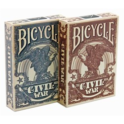 Bicycle - Civil War USA - Poker karty modré