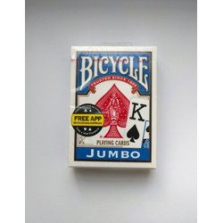 Bicycle - Rider Back Jumbo - Poker karty modré