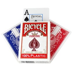 Bicycle - Prestige 100% Plastic - Poker karty če...