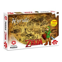 Puzzle: The Legend of Zelda - Hyrule Field (500 dílků)