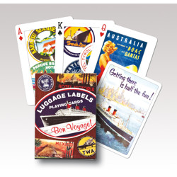 Poker karty Luggage Labels