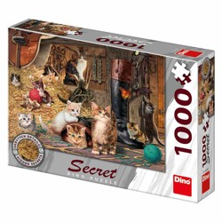 Puzzle Secret collection - Kočičky (1000 dílků)