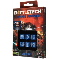 BattleTech: House Steiner D6 Dice set