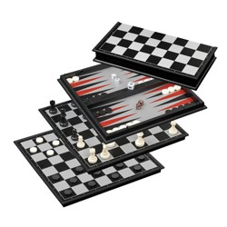 Chess-Backgammon-Checkers-Set, field 37 mm