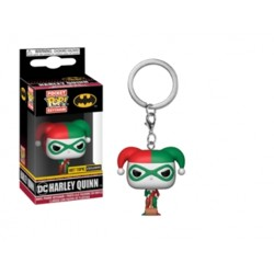 Funko POP:  Keychain DC - Harley Quinn (Holiday)