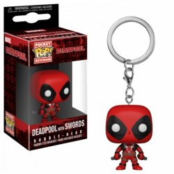 Funko POP: Keychain Deadpool with Swords