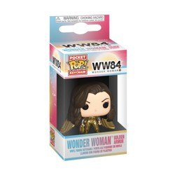 Funko POP: Keychain Wonder Woman 1984 - Wonder Woman Golden Armor (No Helmet G...