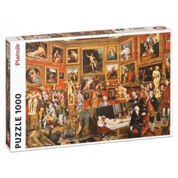 Puzzle - Zoffany - Tribuna of the Uffizi (1000 dílků)