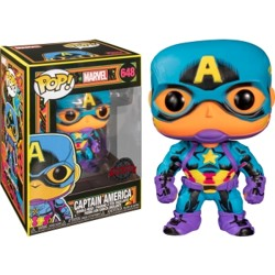 Funko POP: Marvel Black Light - Captain America ...