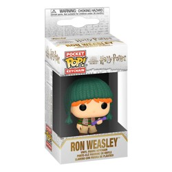 Funko POP: Keychain Harry Potter - Holiday Ron Weasley