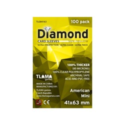 Obaly na karty - Diamond Sleeves: Yellow - Mini American 41x63 mm (100 ks)