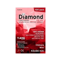 Obaly na karty - Diamond Sleeves: Red - Chimera Mini 43x66 mm (100 ks)
