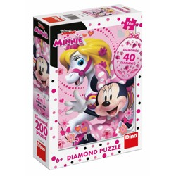 Puzzle Diamond - Minnie Mouse (200 dílků)