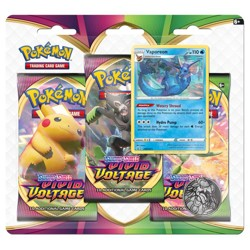 Pokémon Sword & Shield - Vivid Voltage 3 Blister Booster - Vaporeon