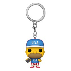 Funko POP: Keychain The Simpsons - USA Homer