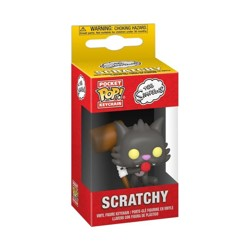 Funko POP: Keychain The Simpsons - Scratchy