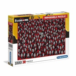 Puzzle - Money Heist Impossible Puzzle Mask (1000 dílků)