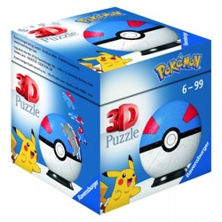 Puzzle 3D Puzzle-Ball - Pokémon Greatball (54 dílků)